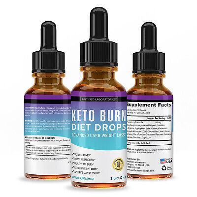 KETO DIET SHRED Burn Ketosis Drops Weight Loss Supplement Fat Burn Carb  Blocker