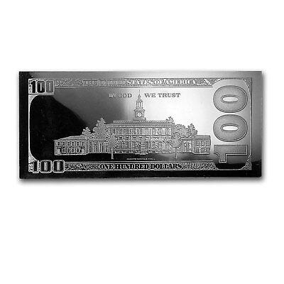 4 oz Silver Bar - Random Year $100 Bill (w/Box & COA) - SKU #96551 3
