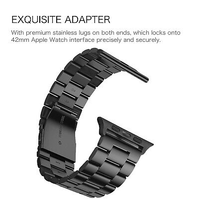 For iWatch Apple Watch Series 5/4 44mm Stainless Steel Band Strap Bracelet 9