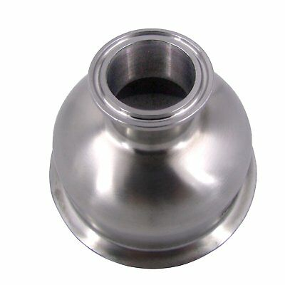 """HFS(R) 1.5"""" X4"""" Sanitary Tri Clamp Bowl Reducer - Stainless"""
