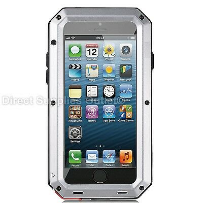 Waterproof Shockproof Metal Aluminum Gorilla Case For iPhone 6 7 8 X XR 5SE PLUS 9