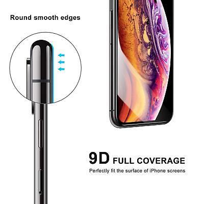 9D Vitre Verre Trempé Film protection d'écran iPhone XR X XS MAX 6 7 8 LOT x2 8