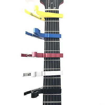 Groove Guitar Capo Quick Change Trigger with 6 Plectrums (5 Different Colours)