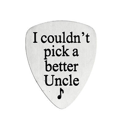 Stainless Steel Engraved Guitar Pick Plectrum GUITARIST BIRTHDAY GIFT Family 5