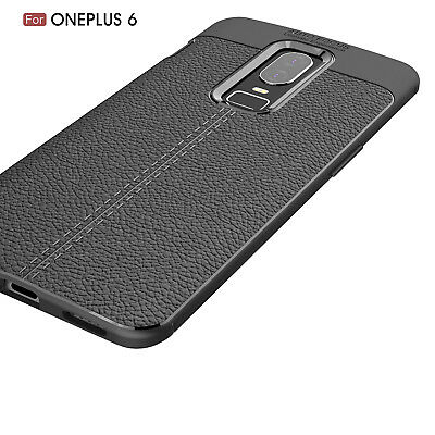 Dooqi Ultra Thin Luxury PU Leather Soft TPU Shockproof Case Cover For OnePlus 6 4