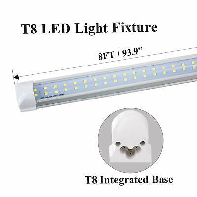 4-100 Pack JESLED T8 Integrated 4-8FT LED Tube Light 22/72W V-Shape 7600LM 6000K 6