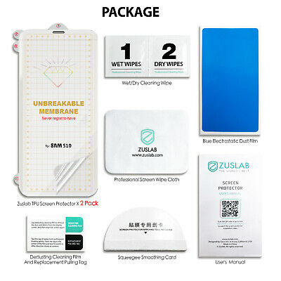 Galaxy S10 S10+ S9 S8 Plus ZUSLAB Full Cover Screen Protector for Samsung X 3 8