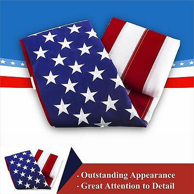 3'x5' ft, American USA US Flag | EMBROIDERED Stars, Sewn Stripes, Brass Grommets 6