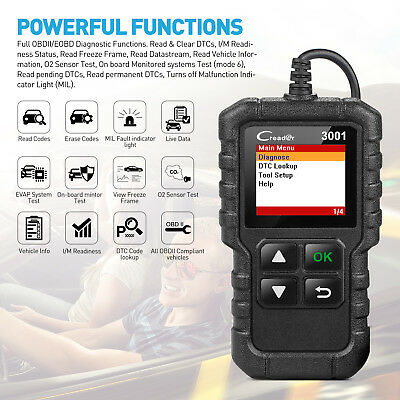 Launch OBD2 Code Reader CR3001 EOBD Car Diagnostic Scan tool Engine Light check 3