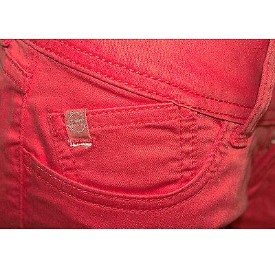 30e82dee48 ... LE TEMPS DE CERISES Jeans slim pantacourt 7/8ème LEA rouge femme W 23 3