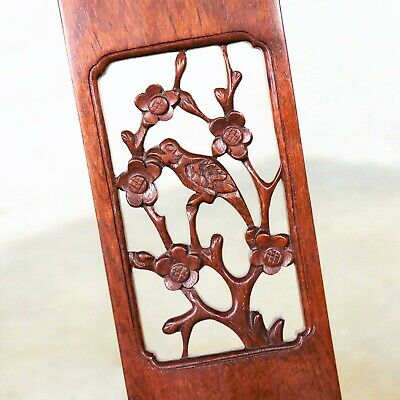 Asian Teak Hand Carved Side Chair in the Style of George Zee 9