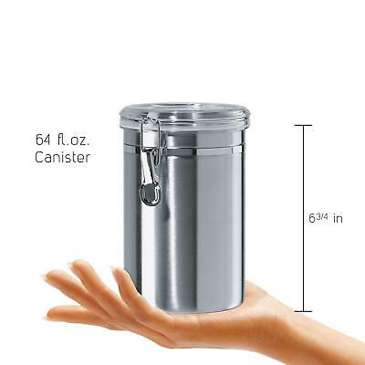 Stainless Steel Air Tight Canister 64 fl oz - Food & Coffee Storage Container 7