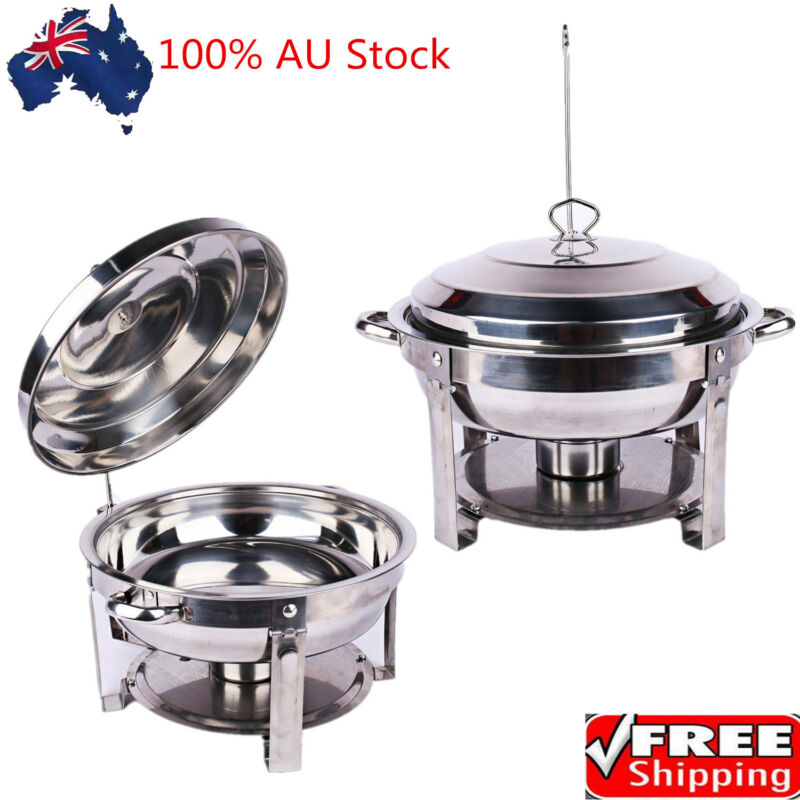 Multi Stainless Steel Bain Marie Chafing Dishes Buffet Food Warmer Pan Heater AU 6
