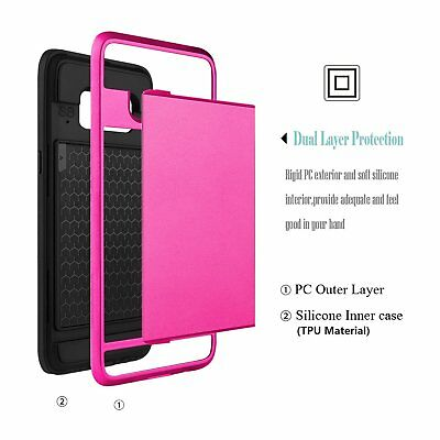 Shockproof Wallet Credit Card Holder Protective Case Cover Fits Samsung Galaxy 9