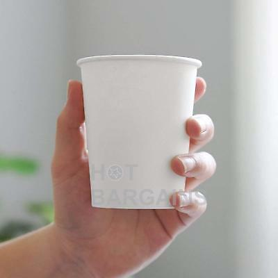 12oz Disposable Single Wall White Paper Cups for Hot Drinks Tea , ECO - FRIENDLY 7