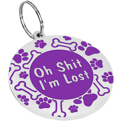 Dog ID Tag Free Custom Personalized Engraved Enamel Pet Puppy Cat Name Charm S L 11