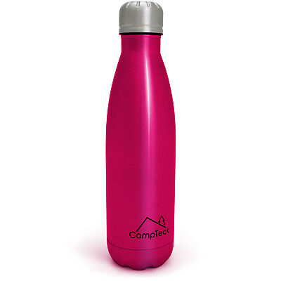 500ml Pink Insulated Stainless Steel Water Bottle Thermal Flask Sports Bottle