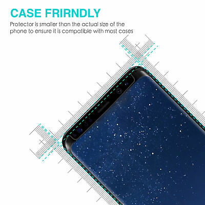 Samsung Galaxy S9 S8 Plus Note 9 8 Full Cover Screen Protector Tempered Glass 9