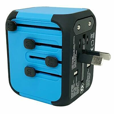 JOLLYFIT Universal Travel Adapter 5A Smart Charger (Blue Type-C and 3 USB Port) 5