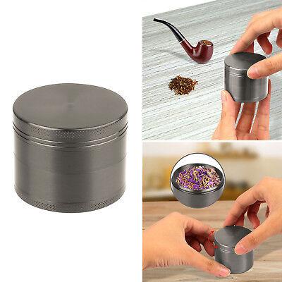 Tobacco Herb Spice Grinder 4pcs Herbal Alloy Smoke Zinc Alloy Metal Crusher Purp
