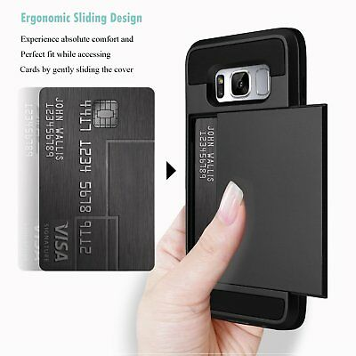 Shockproof Wallet Credit Card Holder Protective Case Cover Fits Samsung Galaxy 4