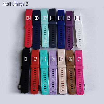 Fitbit Charge 2 Band Replacement Wristband Silicon Sports Watch Strap Metal Lot 9