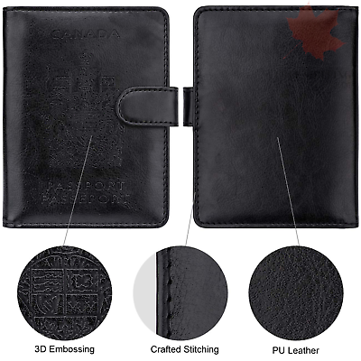 WALNEW RFID Blocking Passport Holder Travel Wallet Cover Case 3