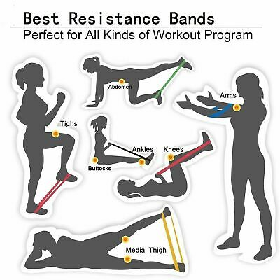 Workout Resistance Bands Loop Set CrossFit Fitness Yoga Booty Leg Exercise Band 5