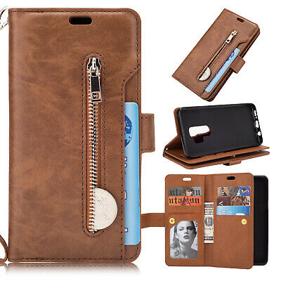 For Samsung Galaxy Note10 Plus S10+ S9 S8 S7 Flip Card Wallet Leather Case Cover 8