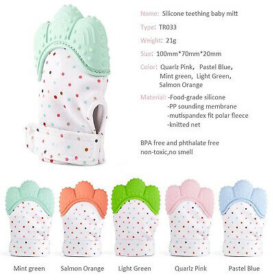 UK Silicone Baby Mitts Teething Mitten Teething Glove Candy Wrapper Soft Teether 2
