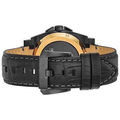 Bulova Grammy Edition Precisionist Men's 98B293 Black Leather Strap 46.5mm Watch 3