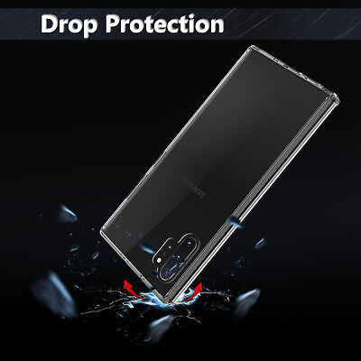 For Samsung Galaxy Note 10+ Plus 5G Clear Case With Full Cover Screen Protector 4