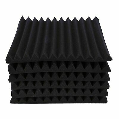 6/12/24X Acoustic Panels Tiles Studio Sound Proofing Insulation Closed Cell Foam 6