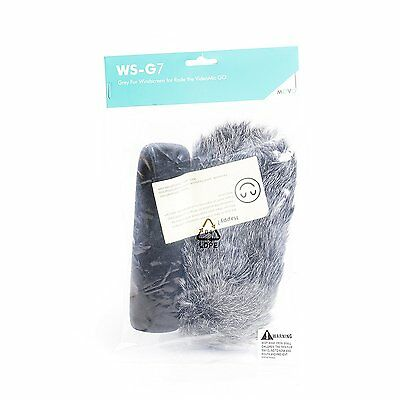 Movo WS-G7 Furry Outdoor Microphone Windscreen Muff Fit for Rode VideoMic Go 5