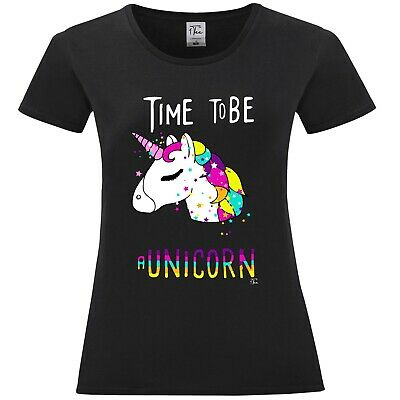 1Tee Womens Time To Be. A Unicorn Magical T-Shirt 2