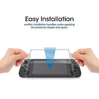 Nintendo Switch amFilm Premium Tempered Glass Screen Protector (2 Pack) 4
