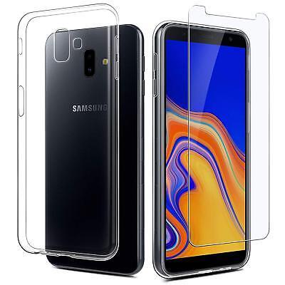 Vitre Protection Film Verre trempé Pour Samsung J6 2018 J6 Plus+ Coque Silicone 4