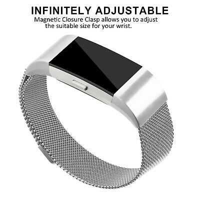 For Fitbit Charge 2 Band Metal Stainless Steel Milanese Strap Bracelet Wristband 5