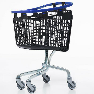 Blue Shopping Trolley Small Supermarket Cart Araven Loop Trolley 100L 2