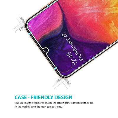 Samsung Galaxy A20 A30 A50 Premium Full Cover Tempered Glass Screen Protector 3