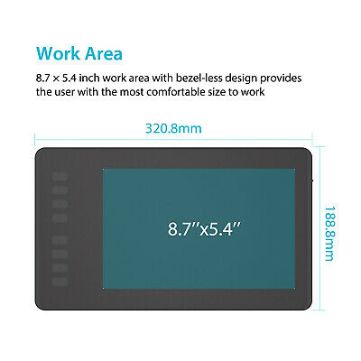 """Huion H950P Graphics Drawing Tablet Battery-free Pen 8192 Pressure 8.7""""x5.4"""" 9"""