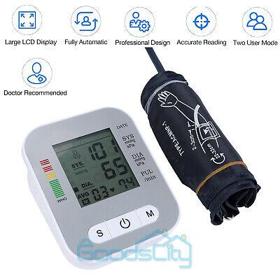 Accurate Full-automatic Upper Arm Blood Pressure Monitor BP Cuff Machine Gauge 5