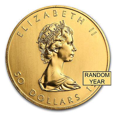 Canada 1 oz Gold Maple Leaf .999 Fine (Random Year) - SKU #95505 2