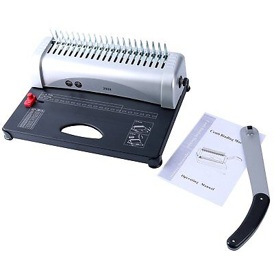 Binding Machine Paper Punch Binder with Starter Combs Set - 450 Sheets, 21 Hole 7