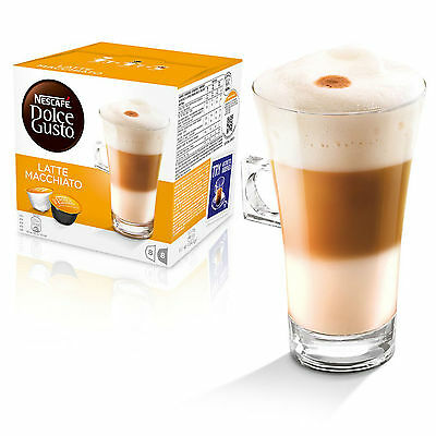 Dolce Gusto Latte Machiato Coffee (3 Boxes,Total 48 Capsules ) 24 Servings 3
