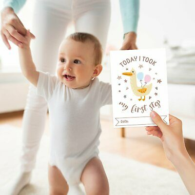 Baby Milestone Cards ~ 1st Year Memorable Moments Boy Girl Unisex Age 4