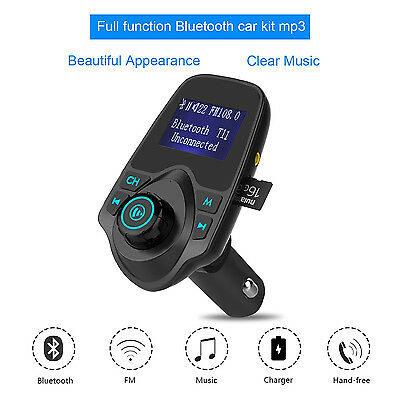 Accesorios Para Carro De Automovil Auto Musica Transmisor Bluetooth Cargador NEW