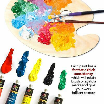 Acrylic Paint Set Tube 24 x 12ml for Artists.Perfect for Canvas,Wood,Ceramic 2