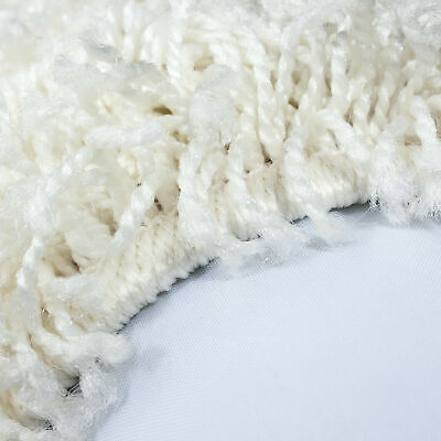 5cm HIGH PILE SMALL EXTRA LARGE PREMIUM QUALITY NON SHED THICK SHAGGY RUG CREAM 2