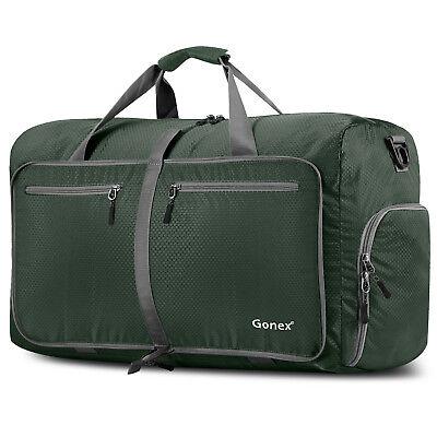 Gonex 80L Travel Duffle Bag Foldable Tear Resistant Carry-On Luggage Bag Storage 4